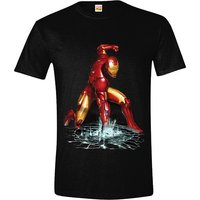 The Invincible Iron Man Fist Superheld T-shirt voor Heren zwart