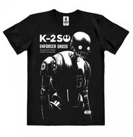 Star Wars - Rogue One K2SO - Heren Zwart easy-fit T-shirt