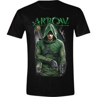 Arrow Front Pose Heren T-shirt zwart
