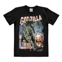 Godzilla King Of The Monsters Heren easy-fit T-shirt zwart