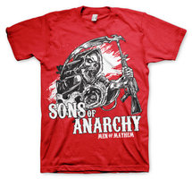 Sons Of Anarchy AK Reaper Heren T-shirt rood