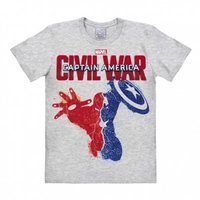 Captain America - Civil War - Marvel  Grijs Heren easy-fit T-shirt