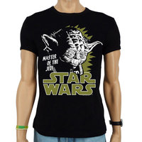Star Wars Yoda Heren slim-fit T-shirt zwart