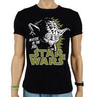 Star Wars Yoda Heren slim-fit T-shirt zwart