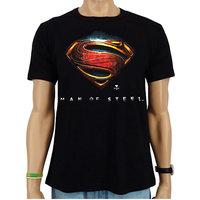 Superman Man of Steel DC Comics Heren easy-fit T-shirt zwart