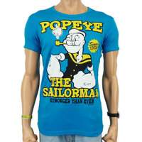 Popeye The Sailorman Heren slim-fit T-shirt blauw