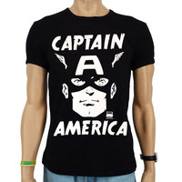 Captain America Face Marvel Heren slim-fit T-shirt