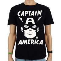 Captain America Face Marvel DC Comics Heren easy-fit T-shirt