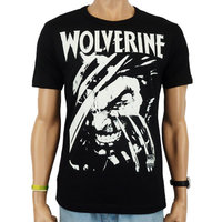 Wolverine X-Men Marvel Heren easy-fit T-shirt zwart