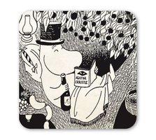 Moomins - Papa leest Agatha Christie - Onderzetter