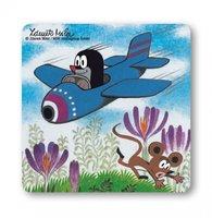 De Kleine Mol In Het Vliegtuig Onderzetter