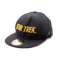 Star Trek Golden Text Logo Wide Bill Snapback Petje