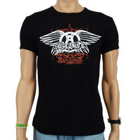 Aerosmith Heren zwart slim-fit T-shirt