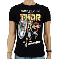 The Mighty Thor For Asgaaard! Marvel Heren zwart slim-fit T-shirt