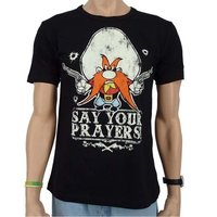 Looney Tunes Say your Prayers Heren zwart easy-fit T-shirt