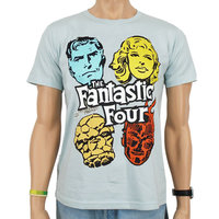 Fantastic 4 Marvel Heren licht blaueeasy-fit T-shirt