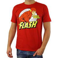 The Flash Fastest Man Alive DC Comics Heren rood easy-fit T-shirt
