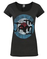 The Jam Vintage Logo Dames Grijs Amplified Cut-out T-shirt