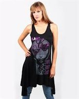Lady Gaga Dames Vintage Zwart Amplified Singlet
