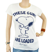 Peanuts - These Guns Are Loaded - Dames Wit T-shirt