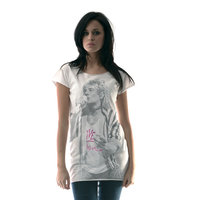 Rod Stewart Portret Dames Wit T-shirt
