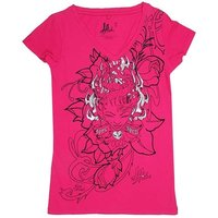 Tattoo L.A. Ink Love Spell Dames Roze V-hals T-shirt