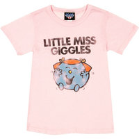 Little Miss Giggles Junk Food Dames Roze T-shirt