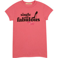 Sex And The City - Single and Fabulous - Dames Roze T-shirt