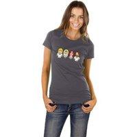 Toonstar gebaseerd op ABBA Dames Grijs T-shirt
