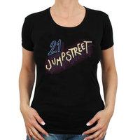 21 Jump Street Logo Dames Zwart T-shirt
