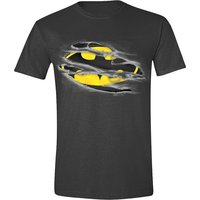 Batman Torn Logo Superheld Heren Zwart T-shirt