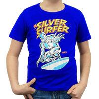 Silver Surfer Marvel Comics Superheld Fantastic 4 Blauw Kinder T-shirt