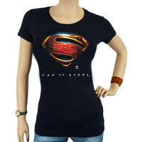 Superman Man of Steel DC Comics Zwart Dames T-shirt
