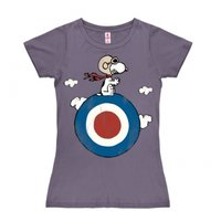 Peanuts Snoopy Target  Dames Paars T-shirt