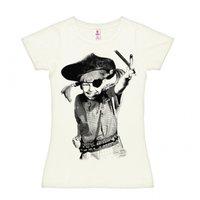 Pippi Langkous Piraat Dames Wit T-shirt