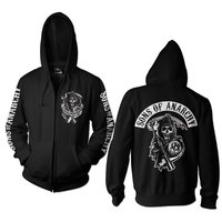 Sons Of Anarchy Heren Hooded Sweater zwart