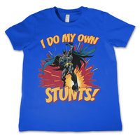 Batman - I Do My Own Stunts - Blauw Kinder T-shirt