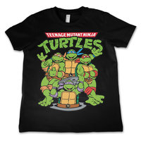 The Turtles - TMNT - Zwart Kinder T-shirt