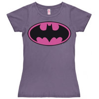 Batman Logo DC Comics Dames Paars T-shirt