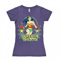 Wonder Woman Stars DC Comics Dames Paars T-shirt