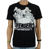 The Avengers - Heroes - Marvel - Zwart Heren easy-fit T-shirt