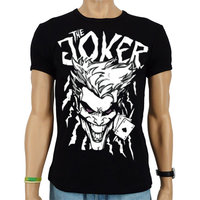 Batman Joker Aces Heren slim-fit T-shirt zwart