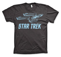 Star Trek Enterprise Ship Heren Donker Grijs T-shirt