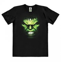 Hulk  T-shirt Face Marvel Heren easy-fit Organic zwart