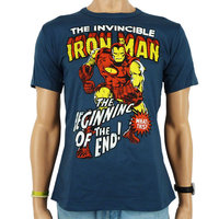The Invincible Iron Man - Marvel - Heren Denim Blauw easy-fit T-shirt