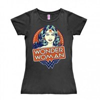 Wonder Woman Portret NEW  DC Comics Dames Grijs T-shirt
