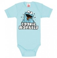 Sesamstraat Cookie Monster Jongens licht blauw Baby Romper/Kruippakje