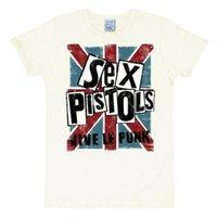 Sex Pistols Vive le Punk Vintage Wit Dames T-shirt