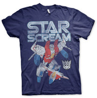 Transformers - Starscream - Marvel Comics Vintage Blauw Heren T-shirt