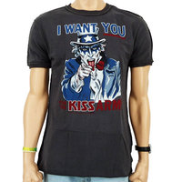 KISS Logo Vintage Army Amplified Stitch Heren T-shirt